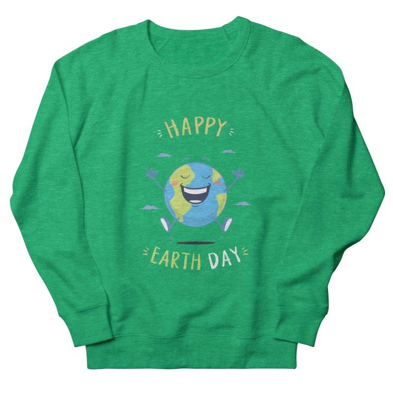 Happy Earth Day Men's Sweatshirt by zoljo's Artist Shop