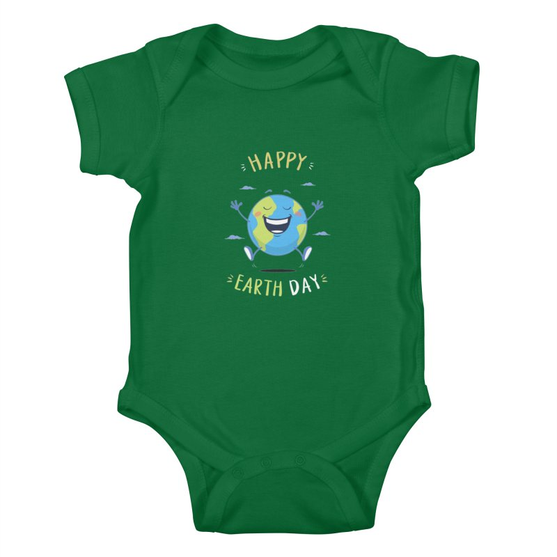 Happy Earth Day Kids Baby Bodysuit by zoljo's Artist Shop