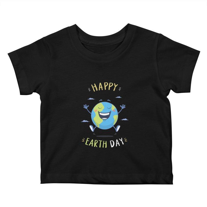 Happy Earth Day Kids Baby T-Shirt by zoljo's Artist Shop