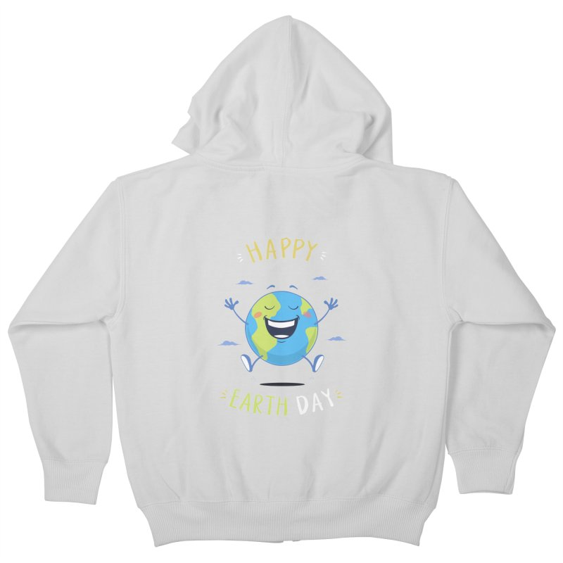 Happy Earth Day Kids Zip-Up Hoody by zoljo's Artist Shop