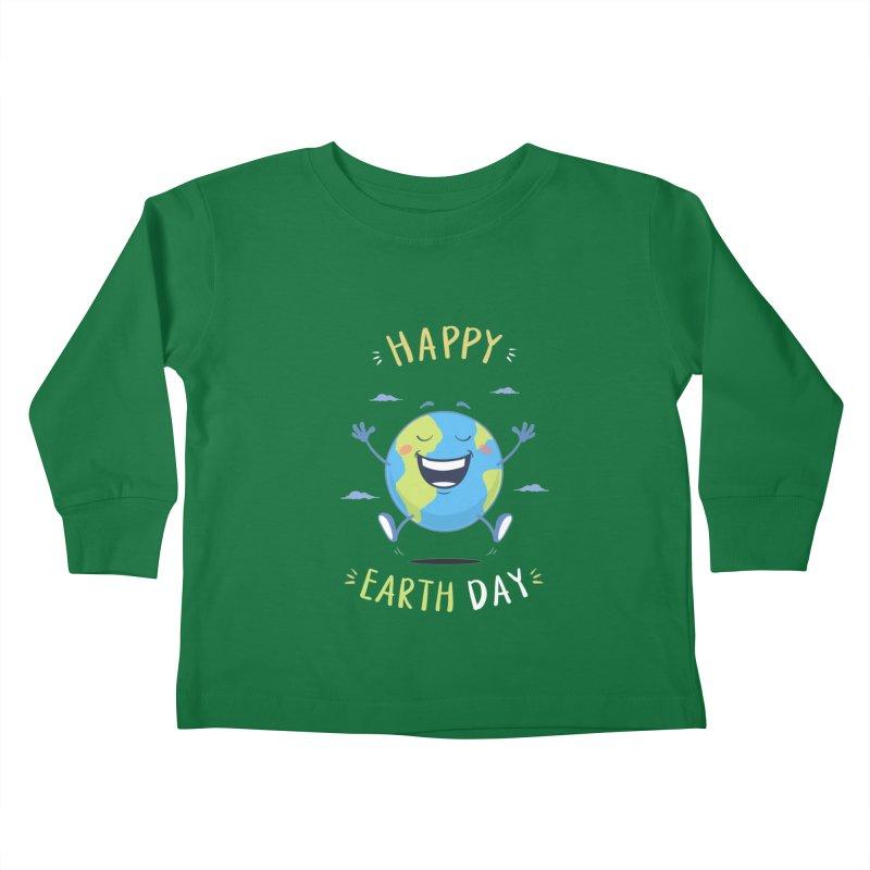 Happy Earth Day Kids Toddler Longsleeve T-Shirt by zoljo's Artist Shop