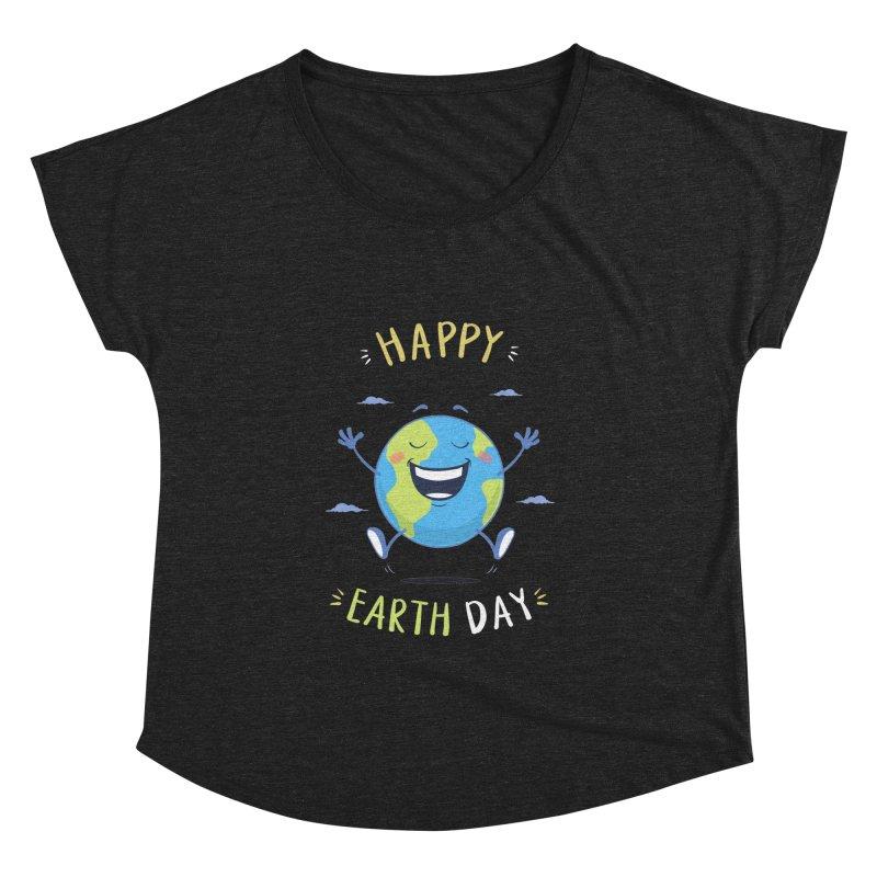 Happy Earth Day Women's Dolman by zoljo's Artist Shop