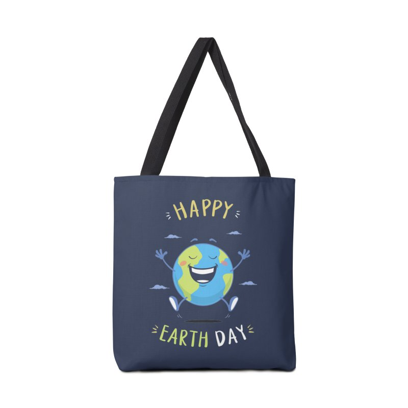 Happy Earth Day Accessories Bag by zoljo's Artist Shop