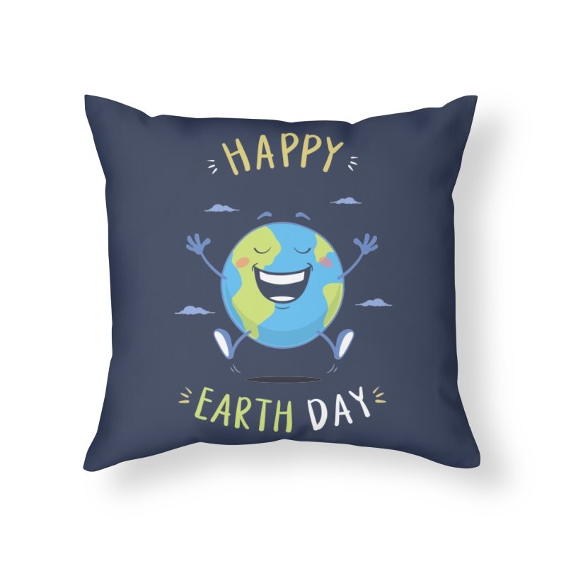 Happy Earth Day Home Throw Pillow by zoljo's Artist Shop