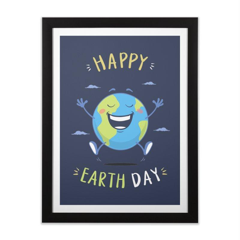 Happy Earth Day Home Framed Fine Art Print by zoljo's Artist Shop