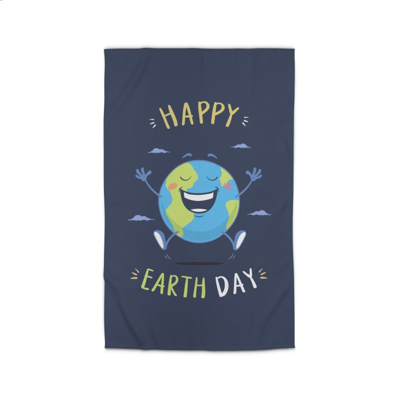 Happy Earth Day Home Rug by zoljo's Artist Shop