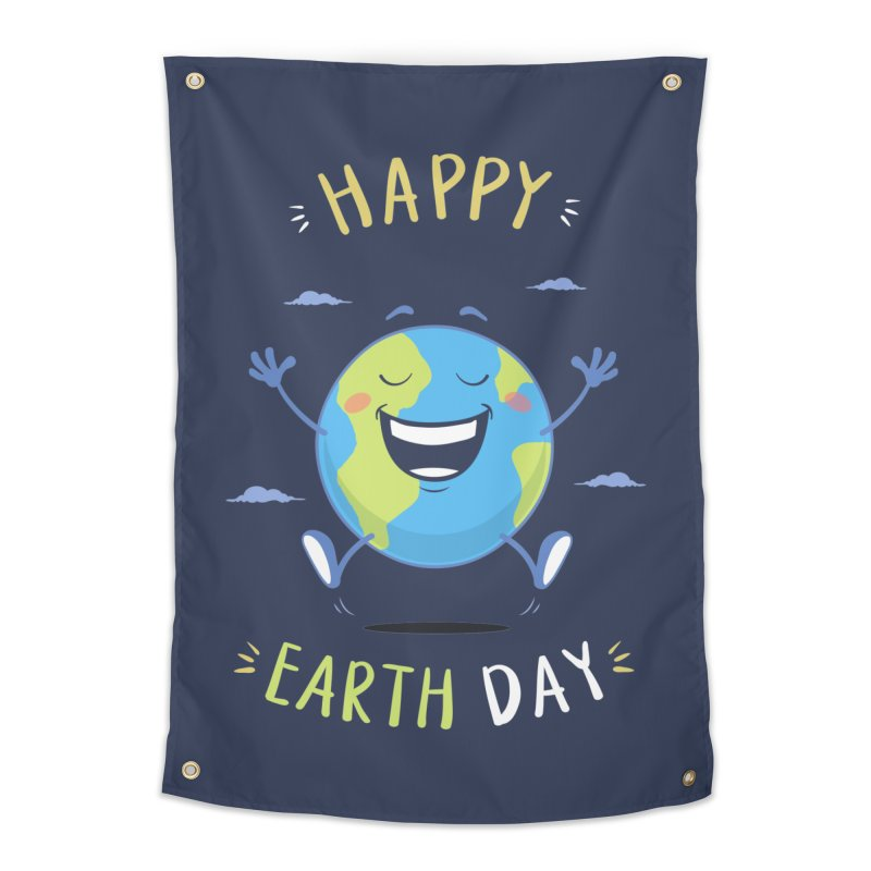 Happy Earth Day Home Tapestry by zoljo's Artist Shop