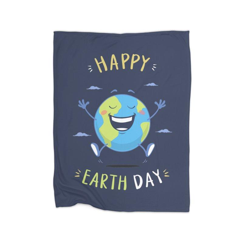 Happy Earth Day Home Blanket by zoljo's Artist Shop