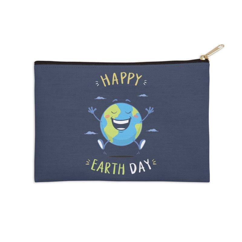 Happy Earth Day Accessories Zip Pouch by zoljo's Artist Shop