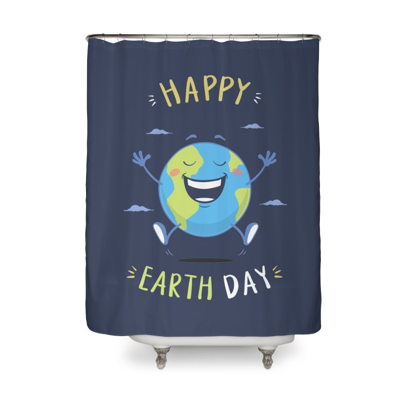 Happy Earth Day Home Shower Curtain by zoljo's Artist Shop