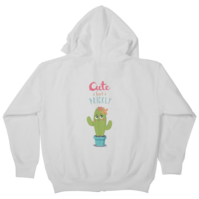 Cute But Prickly Kids Zip-Up Hoody by zoljo's Artist Shop