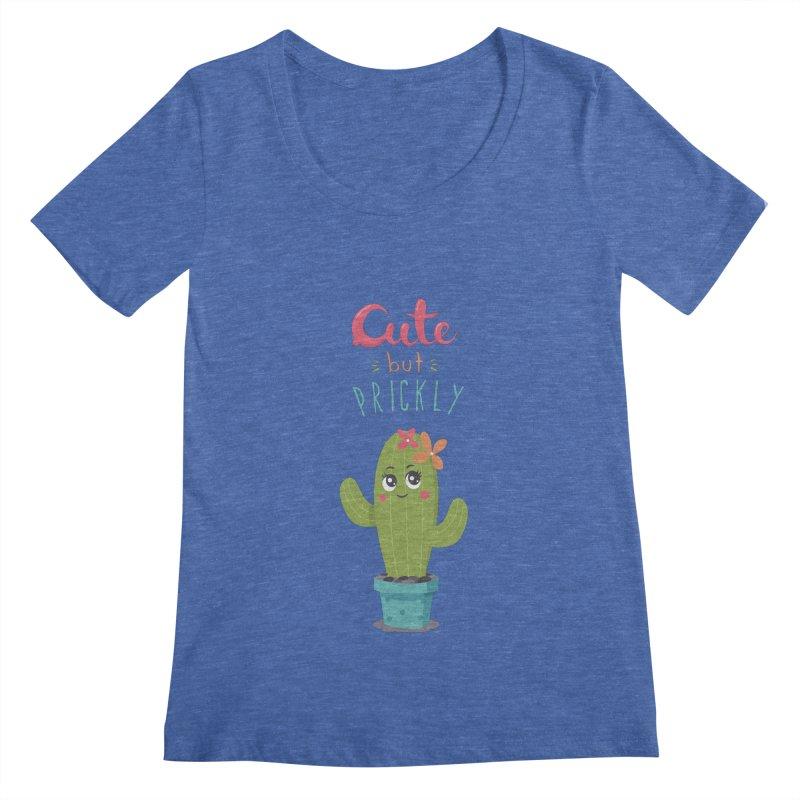 Cute But Prickly Women's Scoopneck by zoljo's Artist Shop