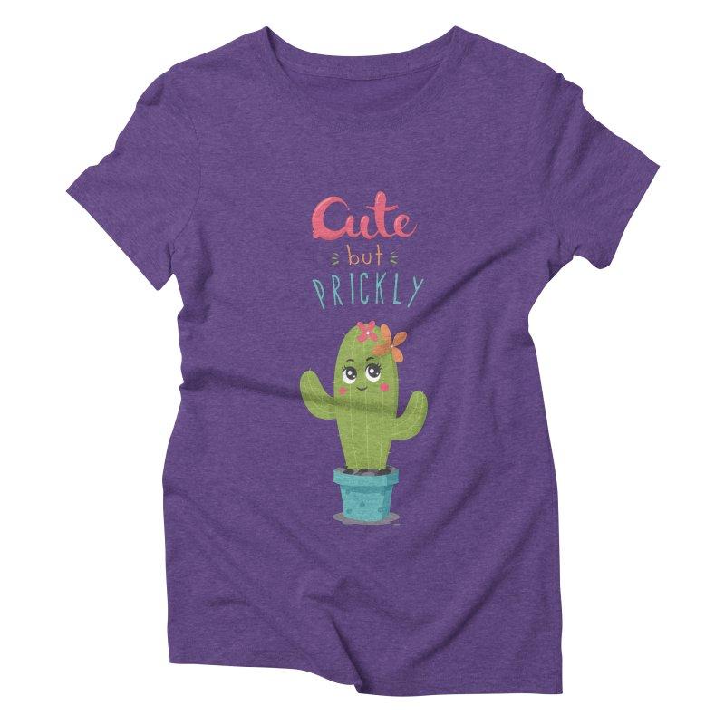 Cute But Prickly Women's Triblend T-Shirt by zoljo's Artist Shop