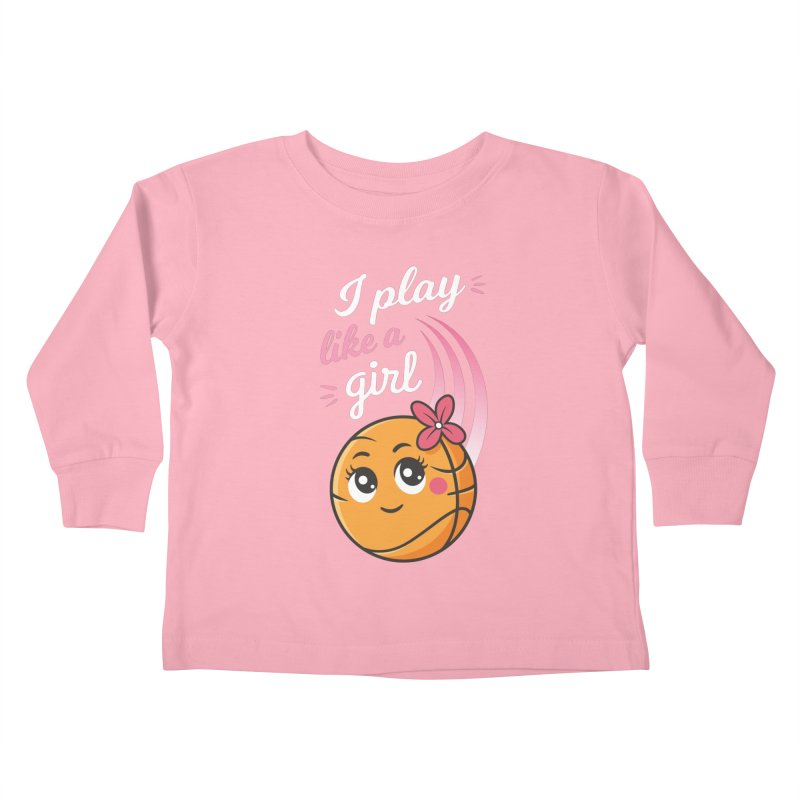 I Play Like a Girl Kids Toddler Longsleeve T-Shirt by zoljo's Artist Shop