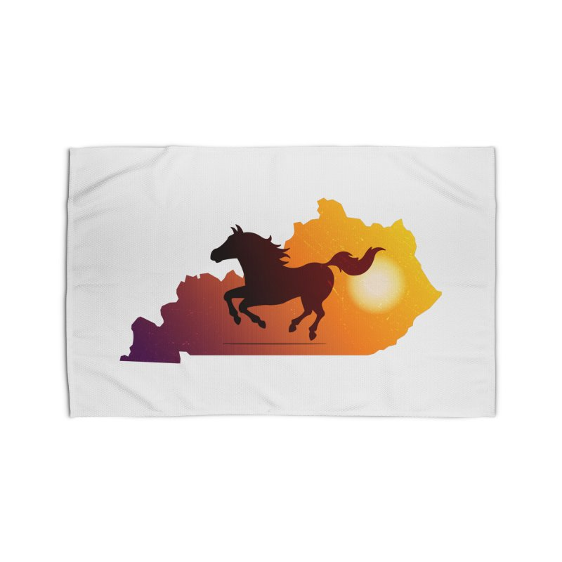 Horse Gallop in Sunset Home Rug by zoljo's Artist Shop
