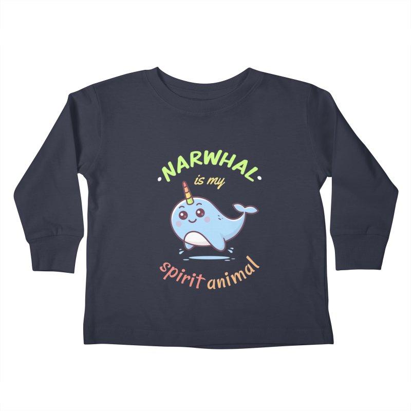 Narwhal is my spirit animal Kids Toddler Longsleeve T-Shirt by zoljo's Artist Shop