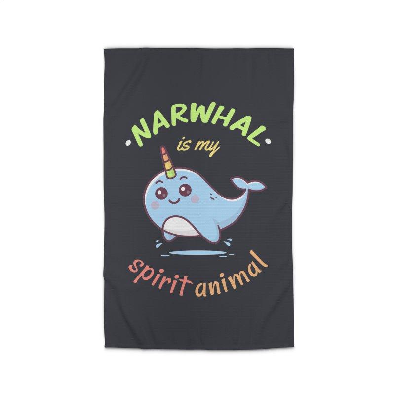 Narwhal is my spirit animal Home Rug by zoljo's Artist Shop