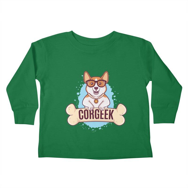 Corgeek Kids Toddler Longsleeve T-Shirt by zoljo's Artist Shop