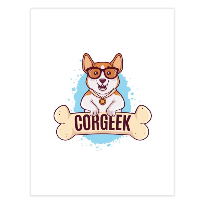 Corgeek Home Fine Art Print by zoljo's Artist Shop