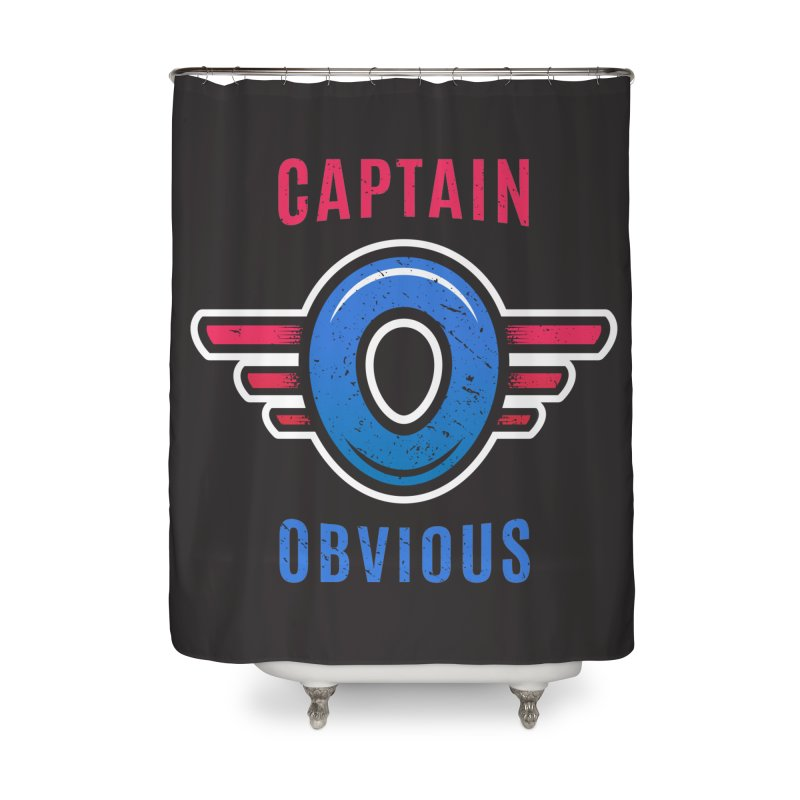 Captain Obvious Home Shower Curtain by zoljo's Artist Shop
