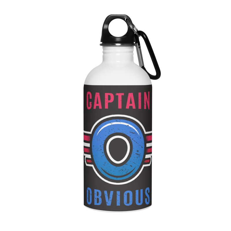 Captain Obvious Accessories Water Bottle by zoljo's Artist Shop