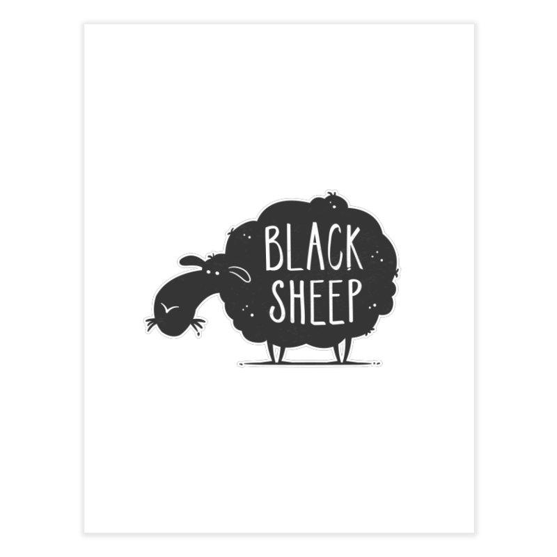 Black Sheep Home Fine Art Print by zoljo's Artist Shop