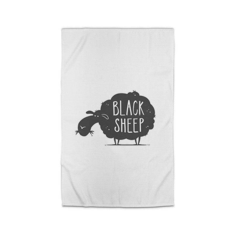 Black Sheep Home Rug by zoljo's Artist Shop
