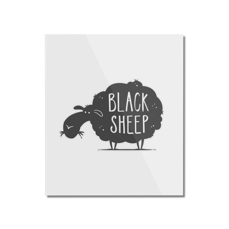Black Sheep Home Mounted Acrylic Print by zoljo's Artist Shop