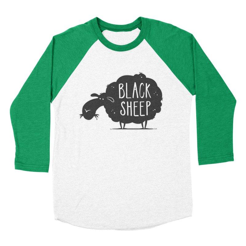 Black Sheep Women's Baseball Triblend T-Shirt by zoljo's Artist Shop
