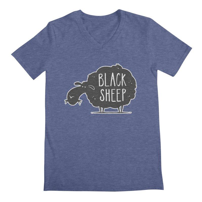 Black Sheep Men's V-Neck by zoljo's Artist Shop
