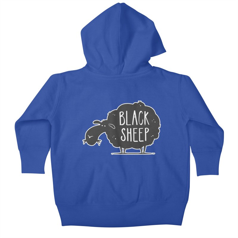 Black Sheep Kids Baby Zip-Up Hoody by zoljo's Artist Shop