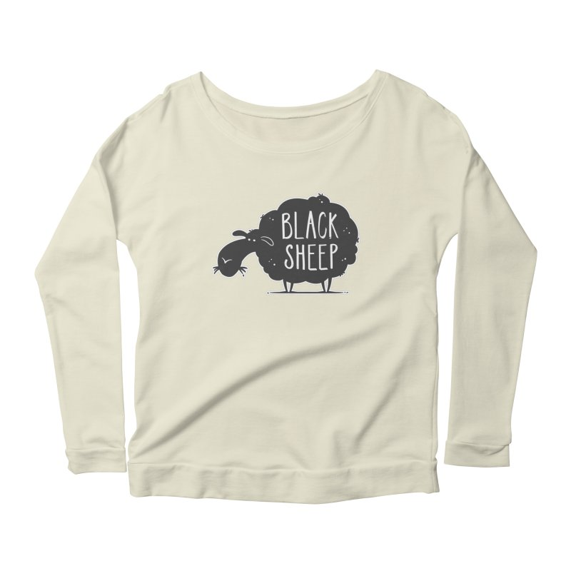 Black Sheep Women's Longsleeve Scoopneck  by zoljo's Artist Shop
