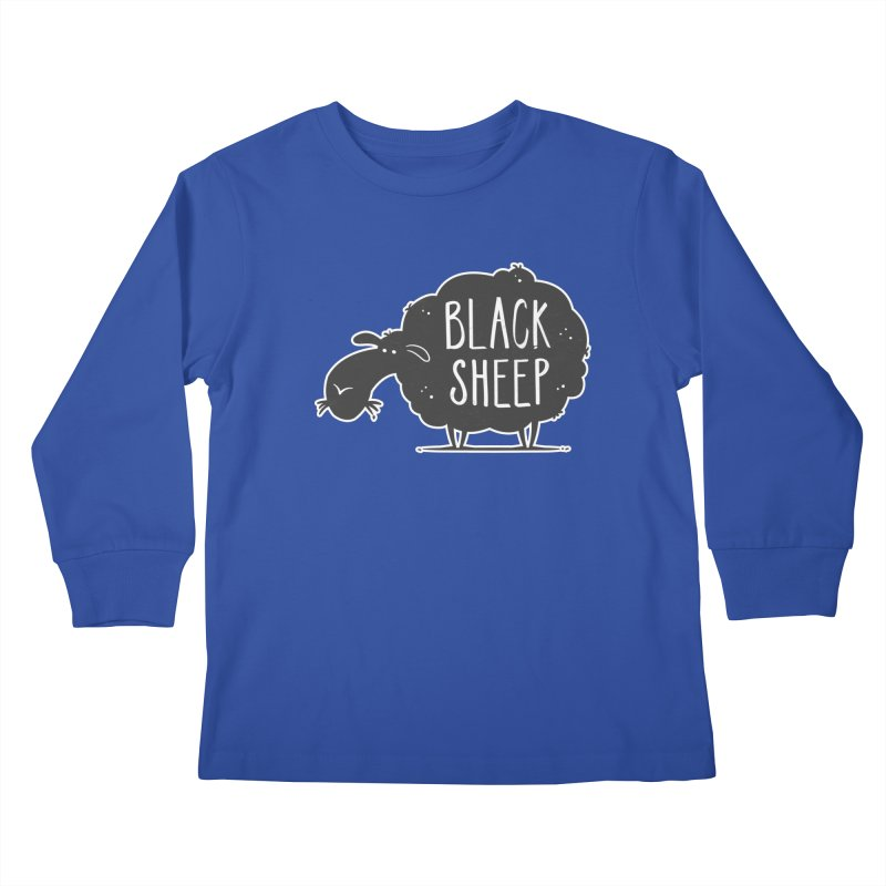 Black Sheep Kids Longsleeve T-Shirt by zoljo's Artist Shop