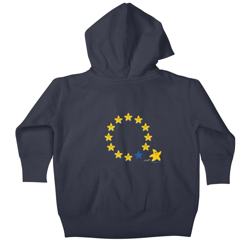 Brexit Kids Baby Zip-Up Hoody by zoljo's Artist Shop