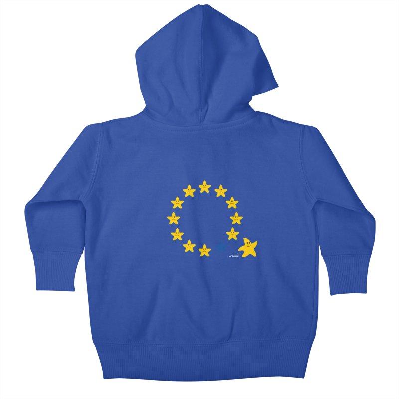 Brexit Kids Baby Zip-Up Hoody by zoljo's Artist Shop