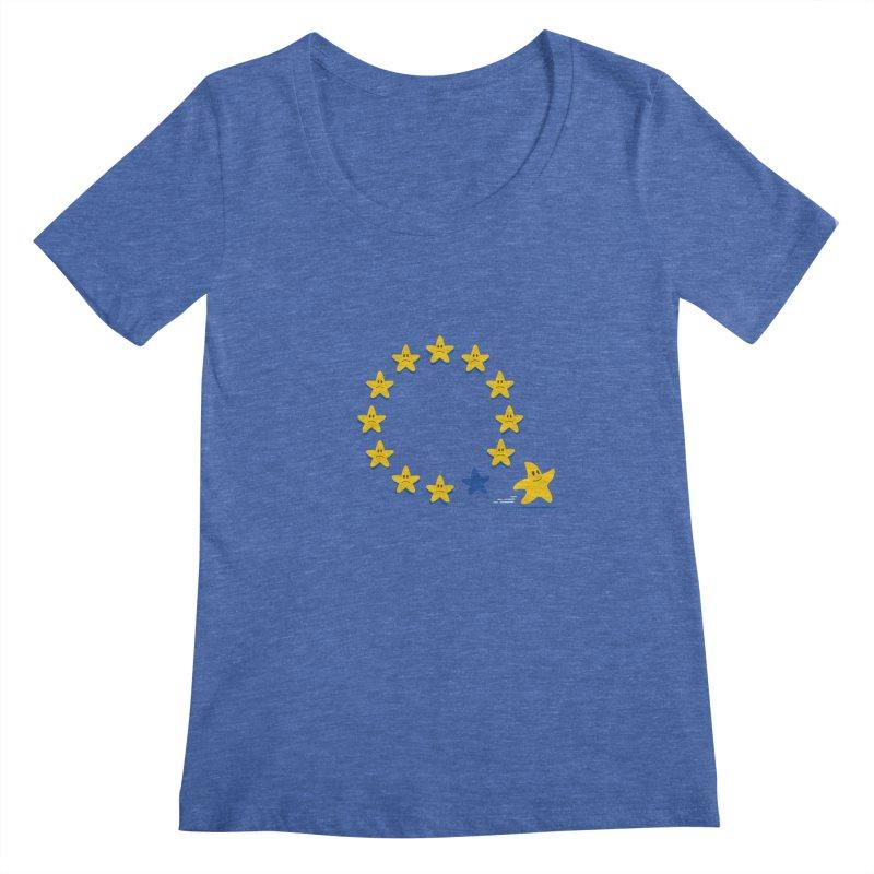 Brexit Women's Scoopneck by zoljo's Artist Shop