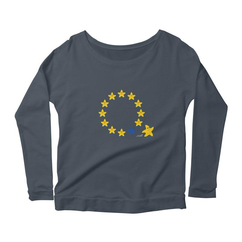 Brexit Women's Longsleeve Scoopneck  by zoljo's Artist Shop