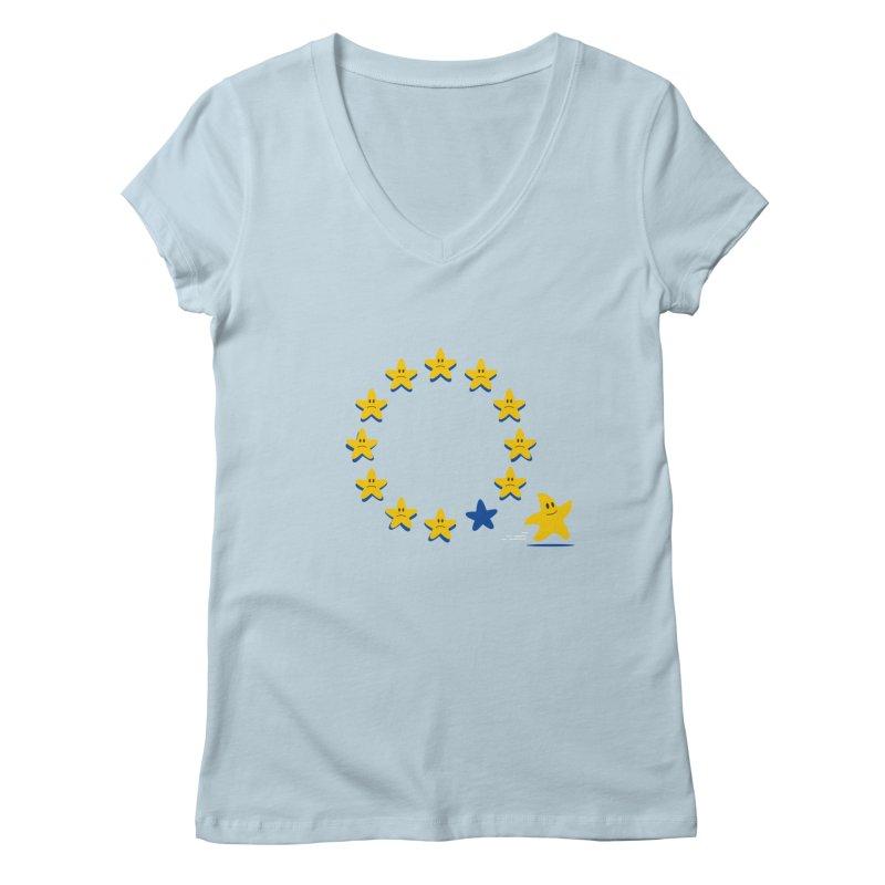 Brexit Women's V-Neck by zoljo's Artist Shop