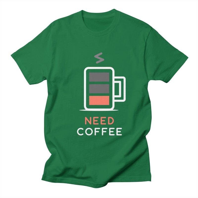 Battery Low, Need Coffee Women's Unisex T-Shirt by zoljo's Artist Shop