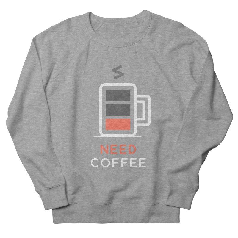 Battery Low, Need Coffee Men's Sweatshirt by zoljo's Artist Shop