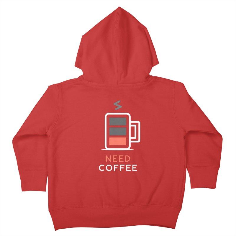 Battery Low, Need Coffee Kids Toddler Zip-Up Hoody by zoljo's Artist Shop