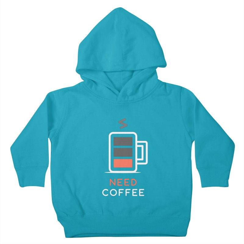 Battery Low, Need Coffee Kids Toddler Pullover Hoody by zoljo's Artist Shop