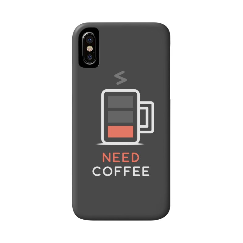 Battery Low, Need Coffee Accessories Phone Case by zoljo's Artist Shop