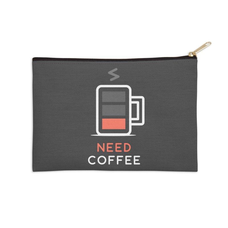 Battery Low, Need Coffee Accessories Zip Pouch by zoljo's Artist Shop