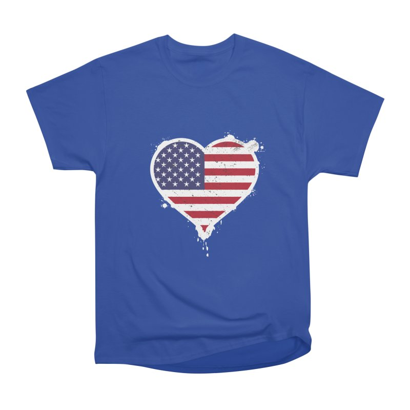 USA Love Men's Heavyweight T-Shirt by zoljo's Artist Shop