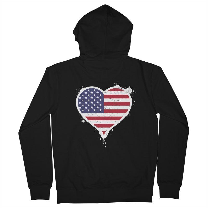USA Love Men's Zip-Up Hoody by zoljo's Artist Shop