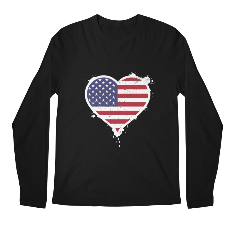 USA Love Men's Longsleeve T-Shirt by zoljo's Artist Shop