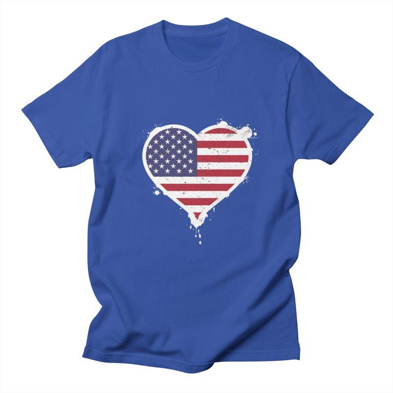 USA Love Women's Unisex T-Shirt by zoljo's Artist Shop