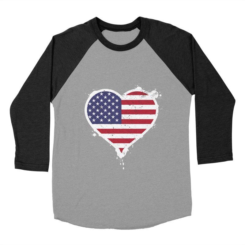USA Love Women's Baseball Triblend T-Shirt by zoljo's Artist Shop