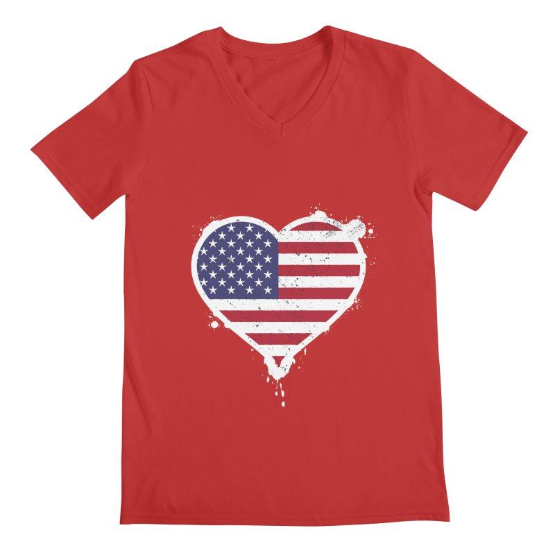 USA Love Men's V-Neck by zoljo's Artist Shop